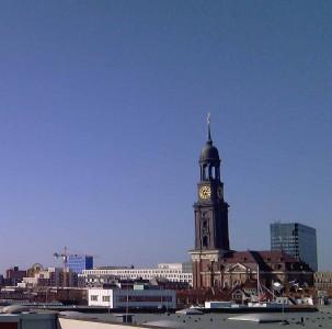 Ausblick aus dem conpega Büro Michel Hamburg